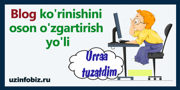 sayt ko'rinishini o'zgartirish