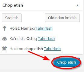 sayt sahifasini chop etish