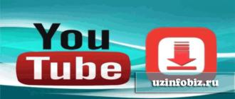 youtubedan video yuklash