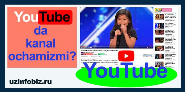 Youtubeda kanal qanday ochiladi?