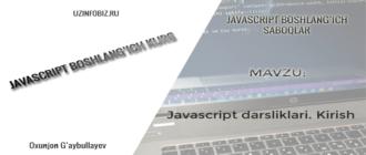 JavaScript dasturlash tilidan boshlang'ich darsliklar